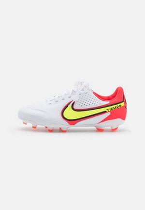 JR. TIEMPO LEGEND 9 PRO FG UNISEX - Moulded stud football boots - white/volt/bright crimson