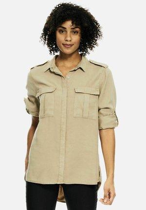 UTILITY - Button-down blouse - tan