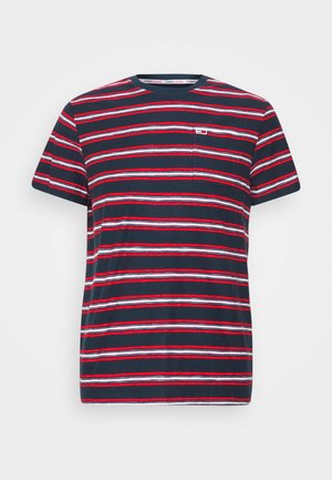 STRIPE TAB TEE - Print T-shirt - twilight navy