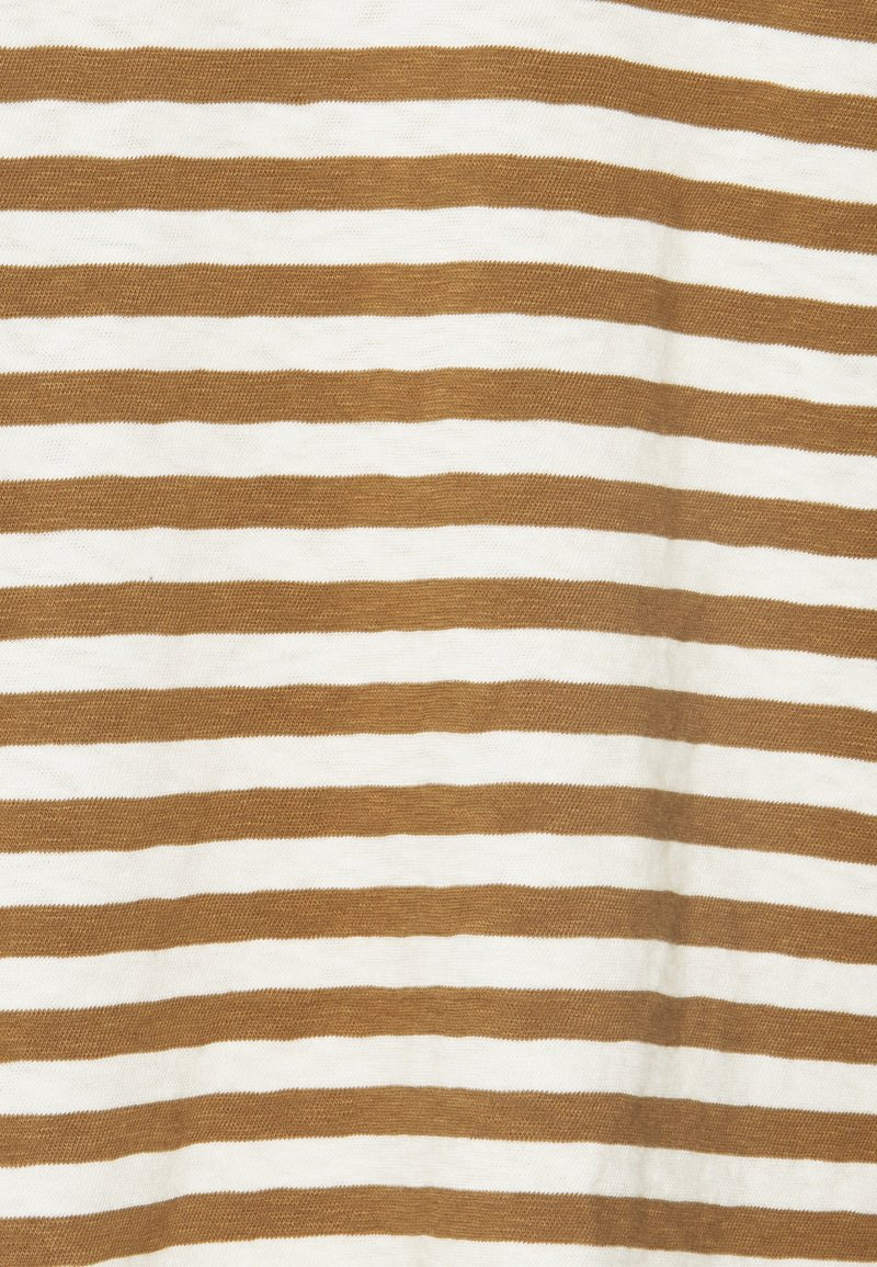 Marc O'Polo DENIM LONGSLEEVE ROUNDNECK - Langarmshirt - multi/cinnamon bun/braun Ubz3QX