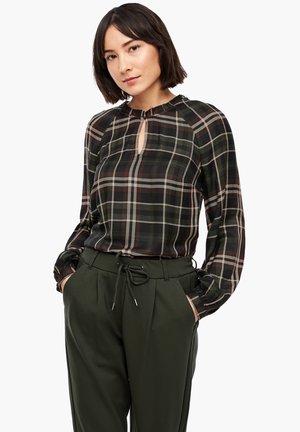 MIT KAROMUSTER - Blouse - khaki check