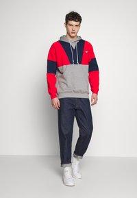 adidas Originals - HOODY - Bluza z kapturem - red/mottled grey/dark blue - 1