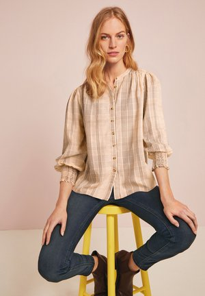 LONG SLEEVE SHIRRED CUFF  - Blouse - off-white