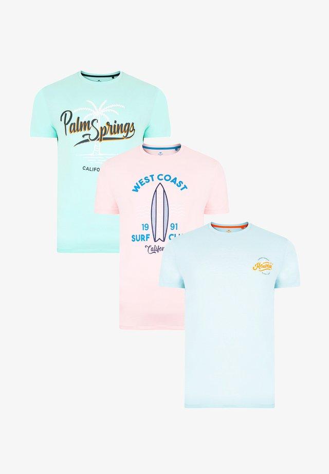 T-shirt con stampa - mehrfarbig