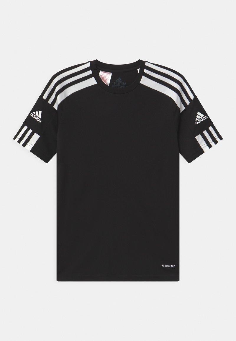 adidas Performance - SQUAD UNISEX - Triko spotiskem - black/white