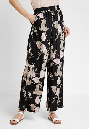 KAJILLI - Trousers - black deep