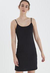 ICHI - LOOSE SLIP DRESS - Nightie - black - 0
