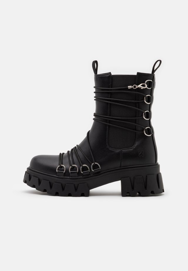 VEGAN ALLEGIANCE - Bottines à plateau - black