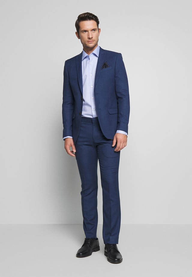 BRIGHT FLECK SUIT SLIM FIT - Jakkesæt - blue