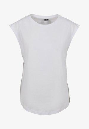 FRAUEN LADIES BASIC SHAPED - Basic T-shirt - white