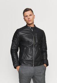 Schott - MARTIN - Leather jacket - black - 0