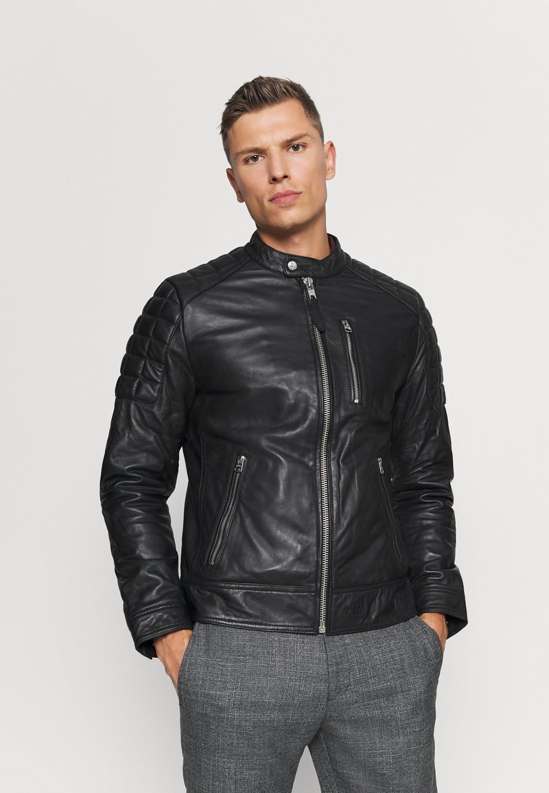 Schott - MARTIN - Leather jacket - black
