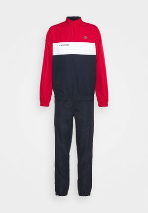 TRACKSUIT - Tracksuit - ruby/navy blue/white