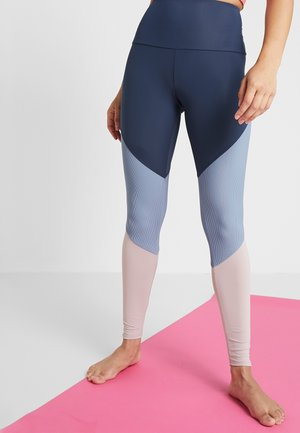 HIGH RISE TRACK LEGGING - Tights - blue