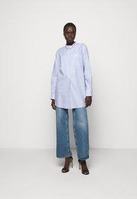 Tory Burch - STRIPE - Shirt dress - blue dusk/white - 1