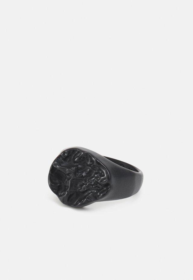 MOLTEN ROUND SIGNET - Prsten - black