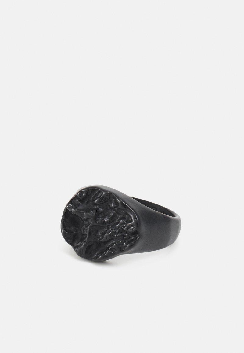 Icon Brand - MOLTEN ROUND SIGNET - Ring - black