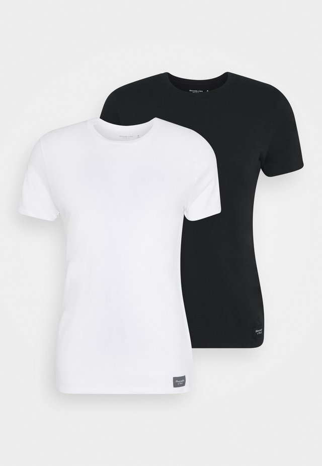 2 PACK ICON CREWS - Basic T-shirt - black/white