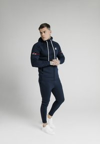 SIKSILK - EXPOSED TAPE ZIP THROUGH HOODIE - Zip-up hoodie - navy - 1