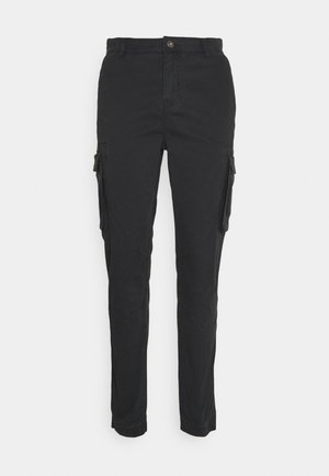 PANTS CROPED - Cargo trousers - dusty black