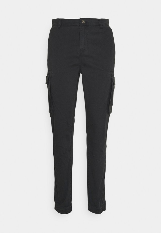 PANTS CROPED - Pantalon cargo - dusty black