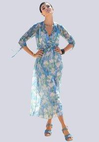 Alba Moda - Maxi dress - blau/off-white - 1