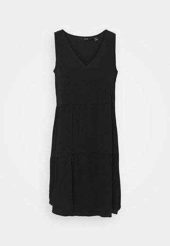 VMOLIVIA PEPLUM DRESS - Day dress - black