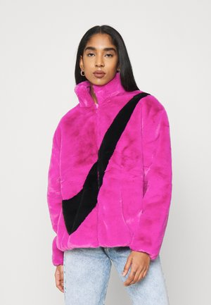 Winter jacket - cactus flower/black