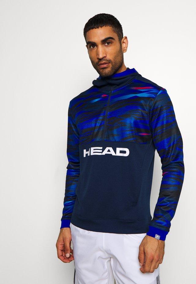 SLIDER HOODIE - Bluzka z długim rękawem - dark blue