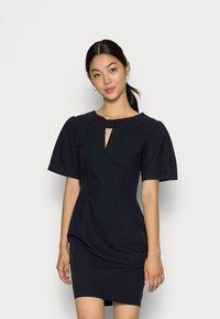 Closet - CLOSET KNOT DETAIL DRESS - Day dress - navy - 0