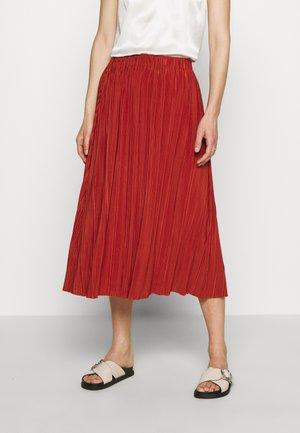UMA SKIRT - Plisovaná sukně - picante