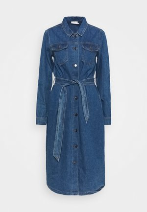 KEISHA DRESS - Denim dress - denim blue