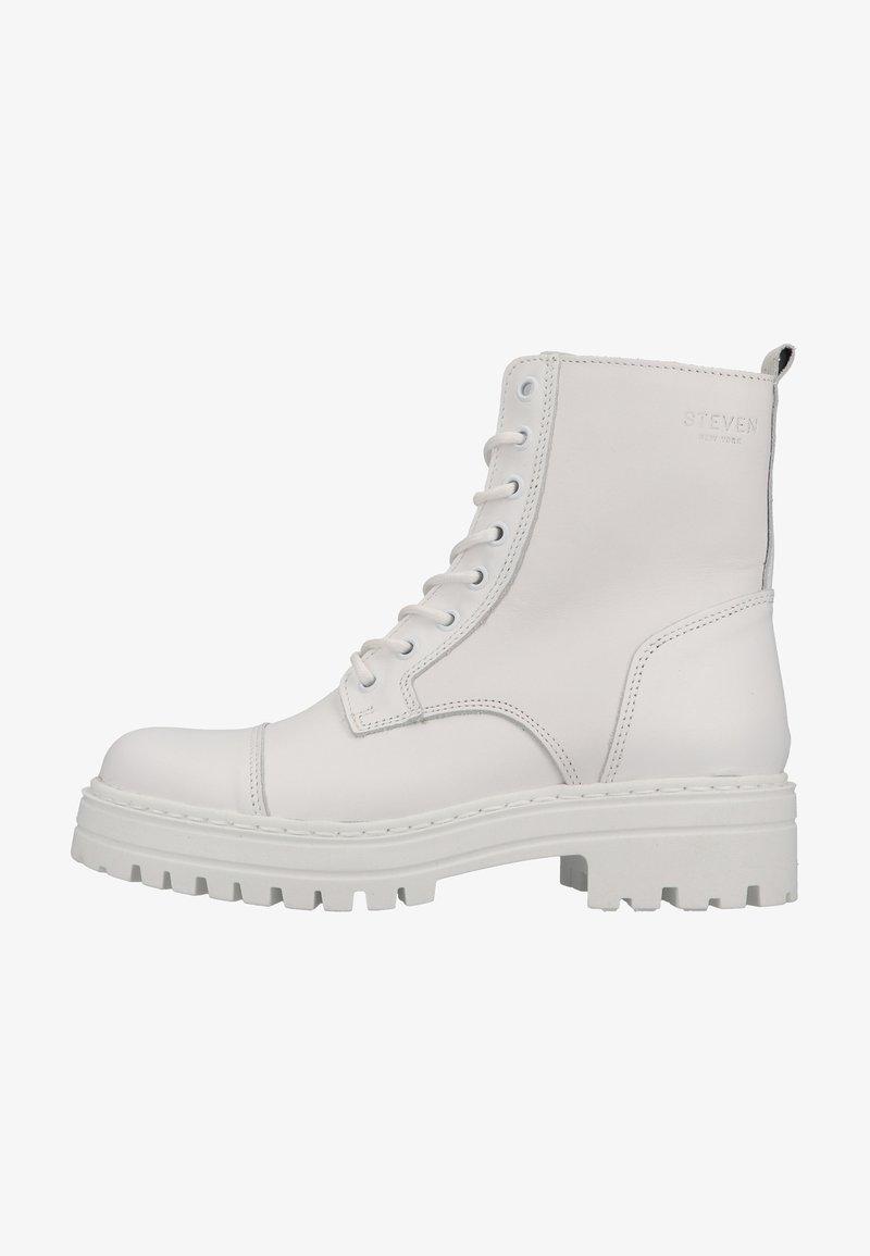 Steven New York - Snørestøvletter - white leather 107