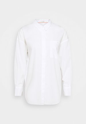 BLOUSE BACK BUTTON PANEL - Košile - white
