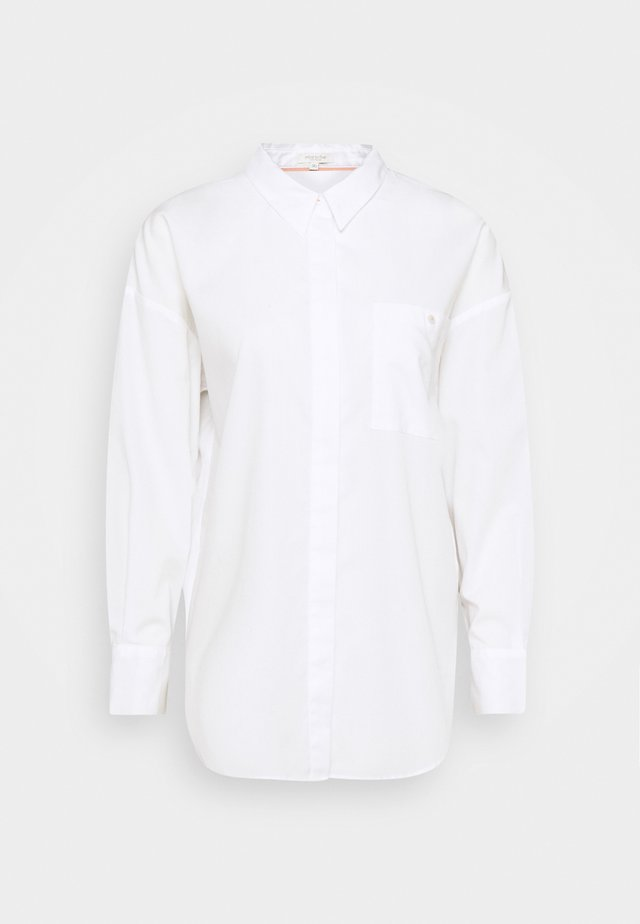 BLOUSE BACK BUTTON PANEL - Skjorte - white