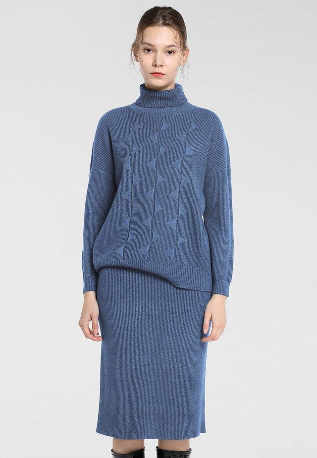 STRICKSET - Pullover - jeansblau