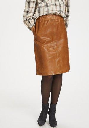 EMBERSZ  - Leather skirt - meerkat