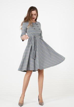 VESTA - Day dress - grau/ gelb