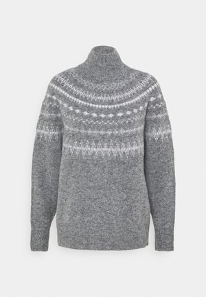 OBJSTONE - Jumper - medium grey melange