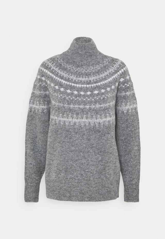 OBJSTONE - Jersey de punto - medium grey melange