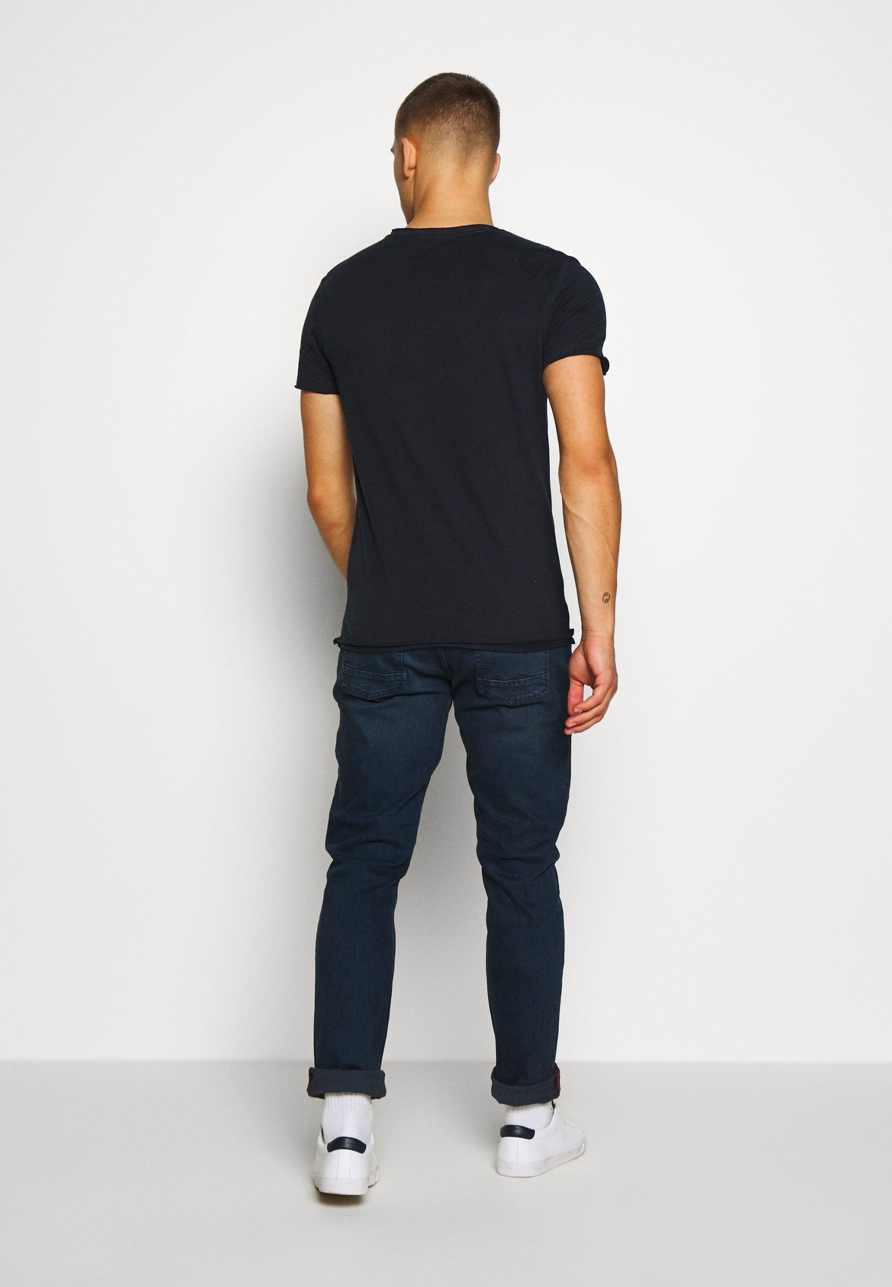 Blend SLIM  - Basic T-shirt - dark navy blue 3idGc