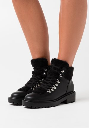 ONLBOLD LACE UP - Ankle boots - black