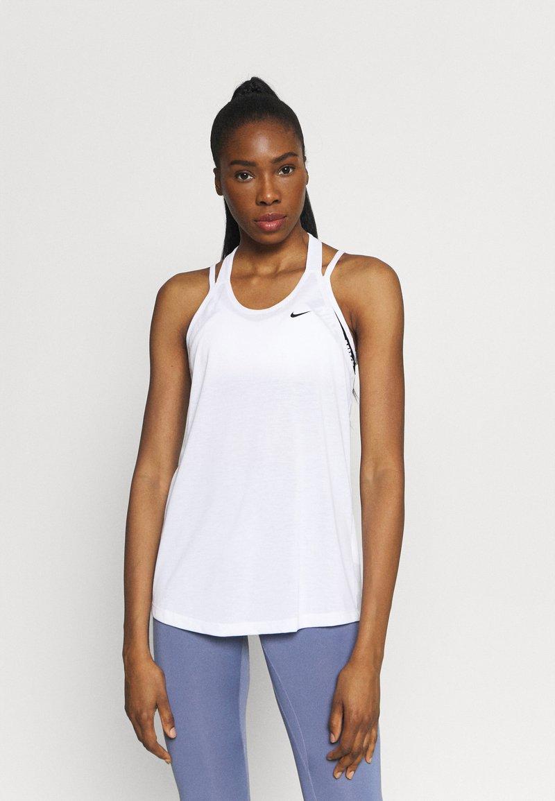 Nike Performance - DRY ELASTIKA TANK - Funktionströja - white/black