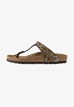 GIZEH - T-bar sandals - brown