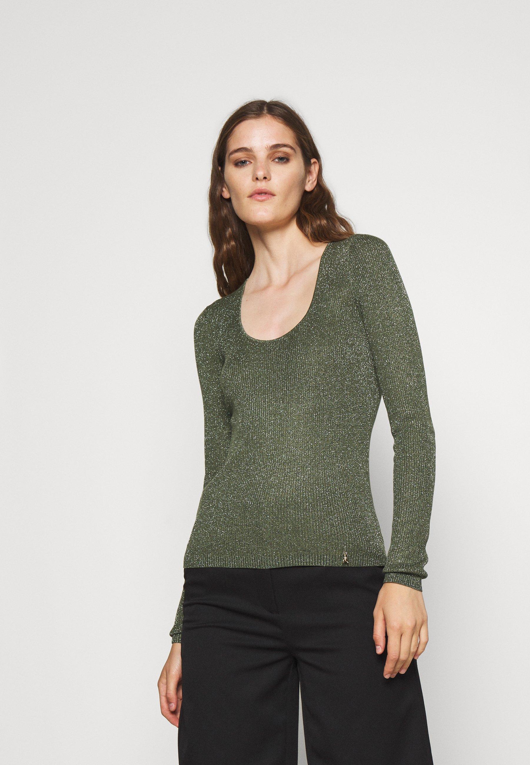 Damen Strickpullover - toscana green