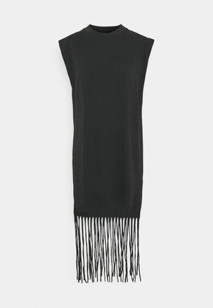 FLORENS FRINGE - T-shirt imprimé - offblack