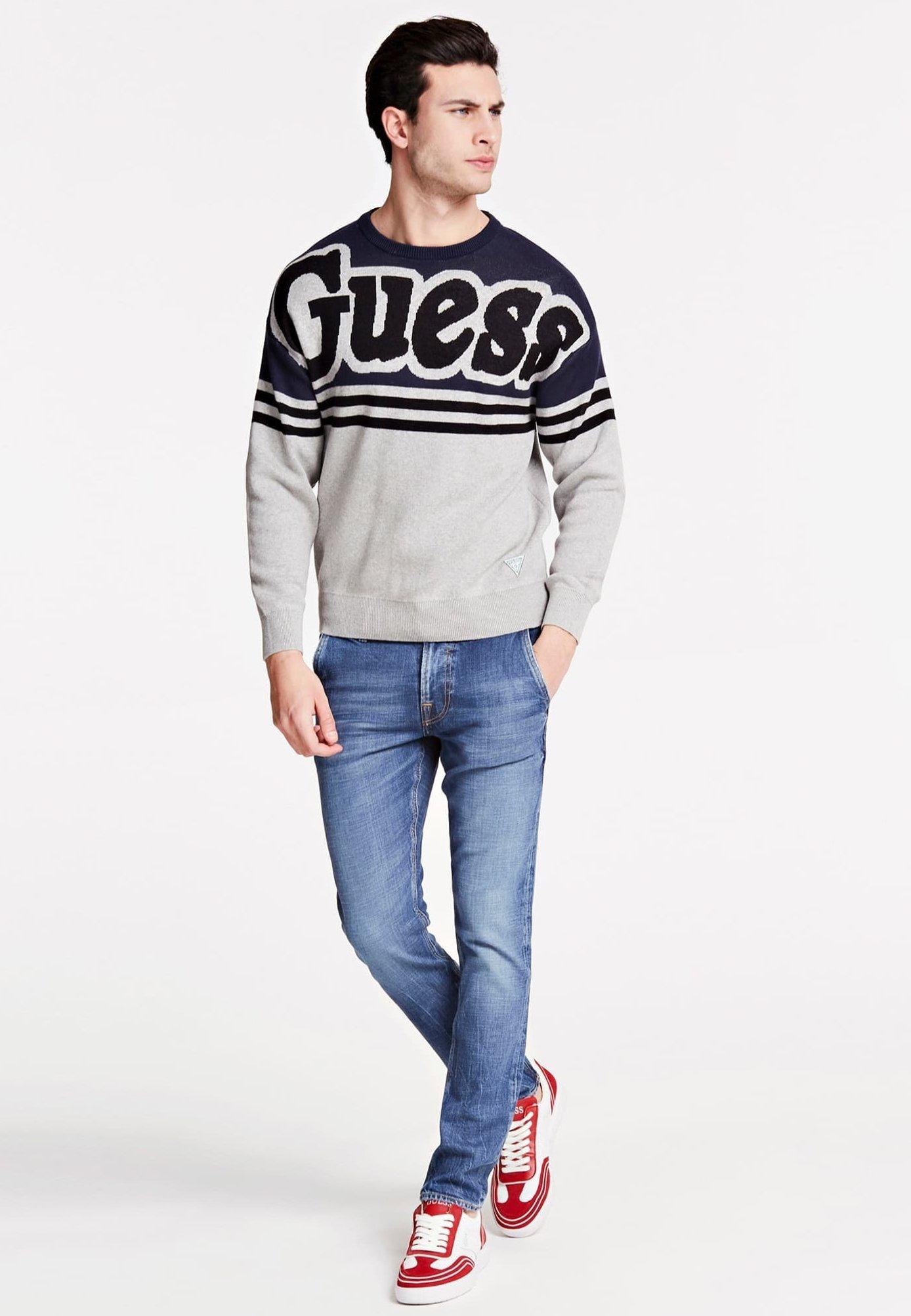 Guess JACQUARD - Pullover - mehrfarbig grau