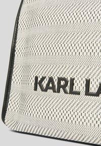 KARL LAGERFELD - Tote bag - black white - 3