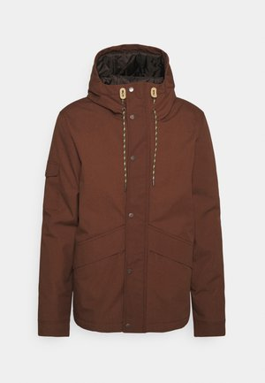 SHORT JACKET - Winter jacket - darkbrown