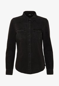 Vero Moda - VMMARIA SLIM  - Button-down blouse - black - 3